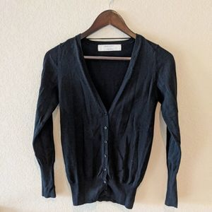 ZARA KNIT black Cardigan sweater size medium